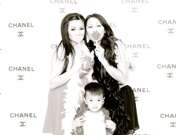 Chanel Backdrop Photo Booth Baby Shower Party Idea