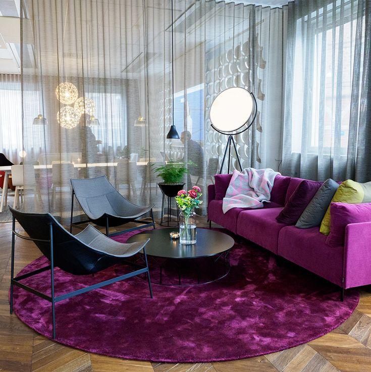 Gothenburg showroom - Blocks sofa, Montparnasse easy chair, Circus table, Circus planter.