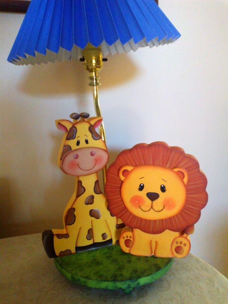 Lámpara Jirafa Y León Con Imágenes Lámparas Para Niños