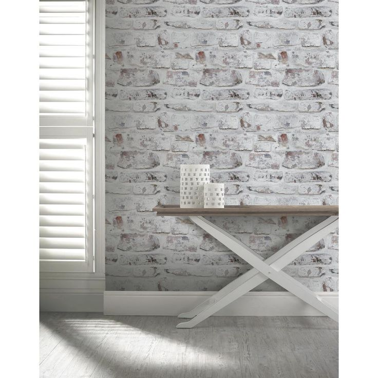Arthouse Whitewash Wall White Wallpaper-671100 - The Home Depot