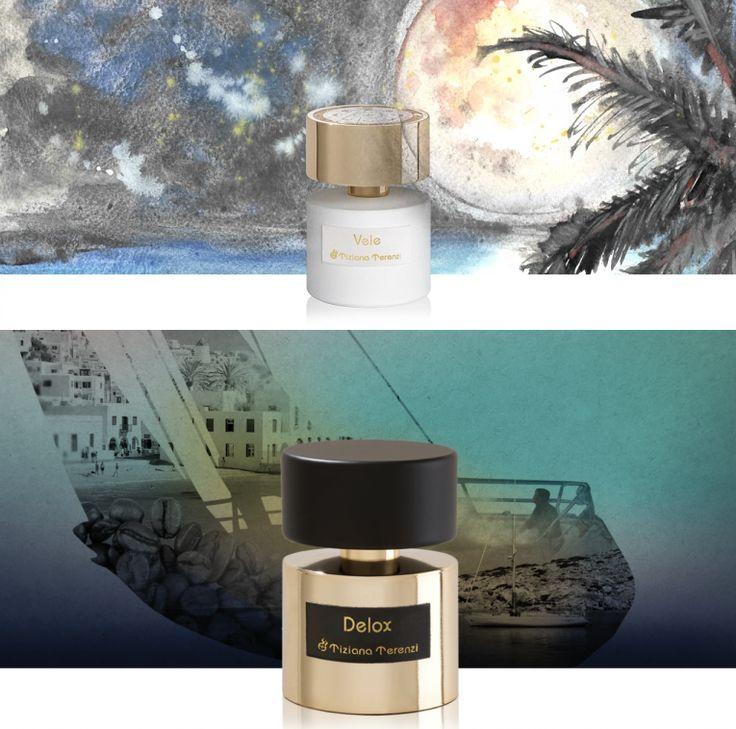 Noch zwei großartige neue Unisex Düfte von Tiziana Terenzi! Vele aus der Luna Collection und Delox Extrait de Parfums.  Düfte von ungetrübter Sorgenfreiheit und zugleich üppigen, berauschenden Noten.