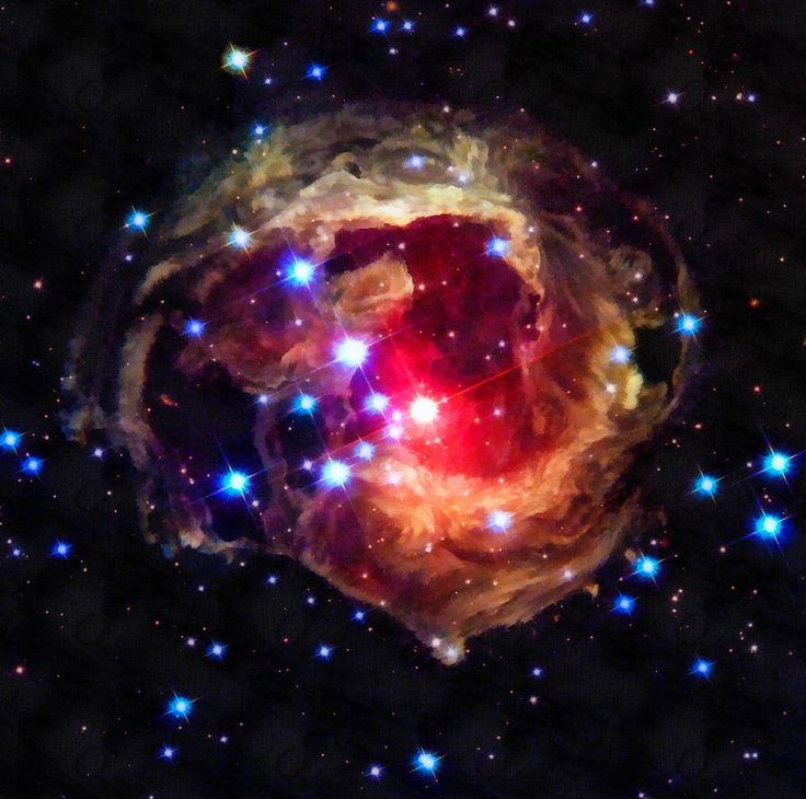 Space Image Red Star In The Universe by Matthias Hauser ...
