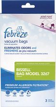 BISSELL - Febreze Vacuum Bags for Select BISSELL Velocity Vacuums (3-Pack) - Blue