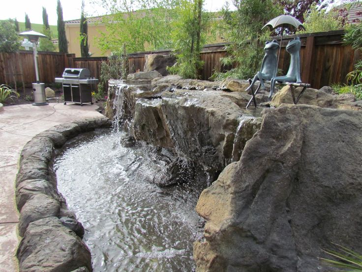 Beautiful Backyard Water Features For Landscaping Ideas: Patio Water  Fountains With Small Pond For Backyard Water Features Also Patio Pavers  With Outdoor ...