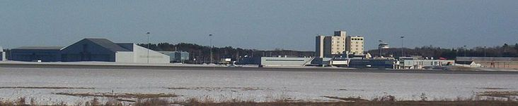 Bangor. BIA Terminal, hotel, and support buildings from far side of field