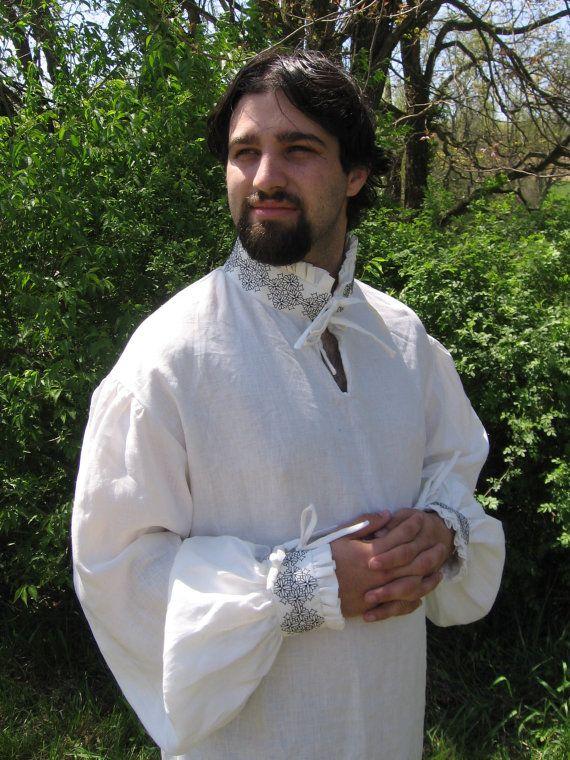 Renaissance Shirt with Blackwork Embroidery
