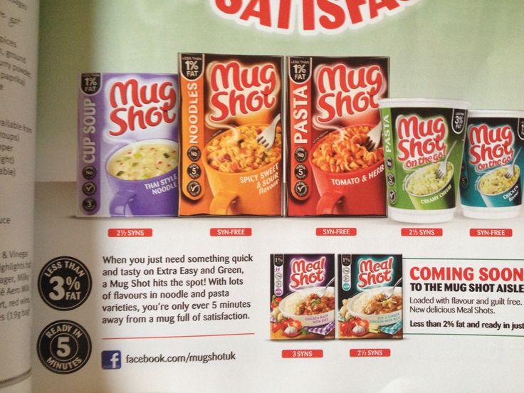 Slimming world snack, mug shots & syn values
