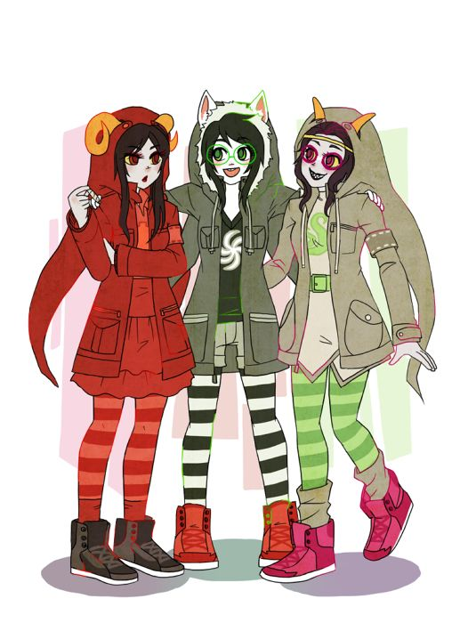 Aradia, Jade, and Feferi | Homestuck | Pinterest | Of life ...Witch Of Life Outfit