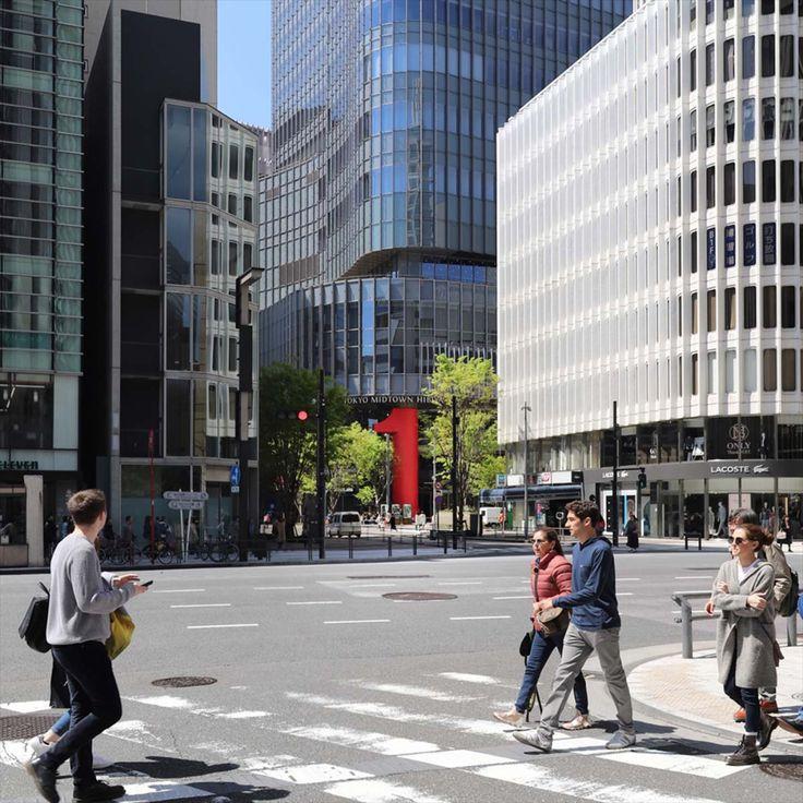 東京ミッドタウン日比谷1周年記念装飾 in 2020 Signage, Street, Street view