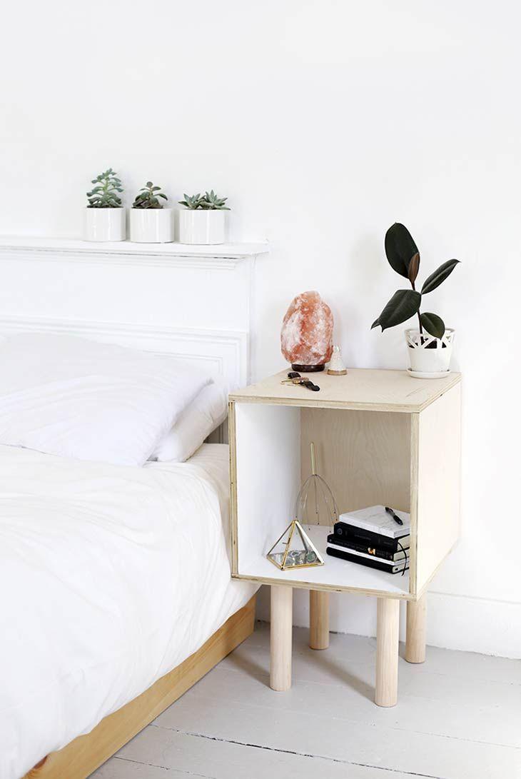 12 Simple Modern Diy Nightstand Ideas Ohmeohmy Blog Side Table Furniture Bedroom