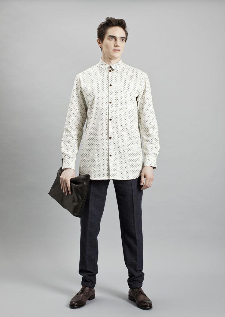 Tela Shirt, Presley Trousers and Big Vene Purse| Samuji Men Fall Winter 2014 Collection