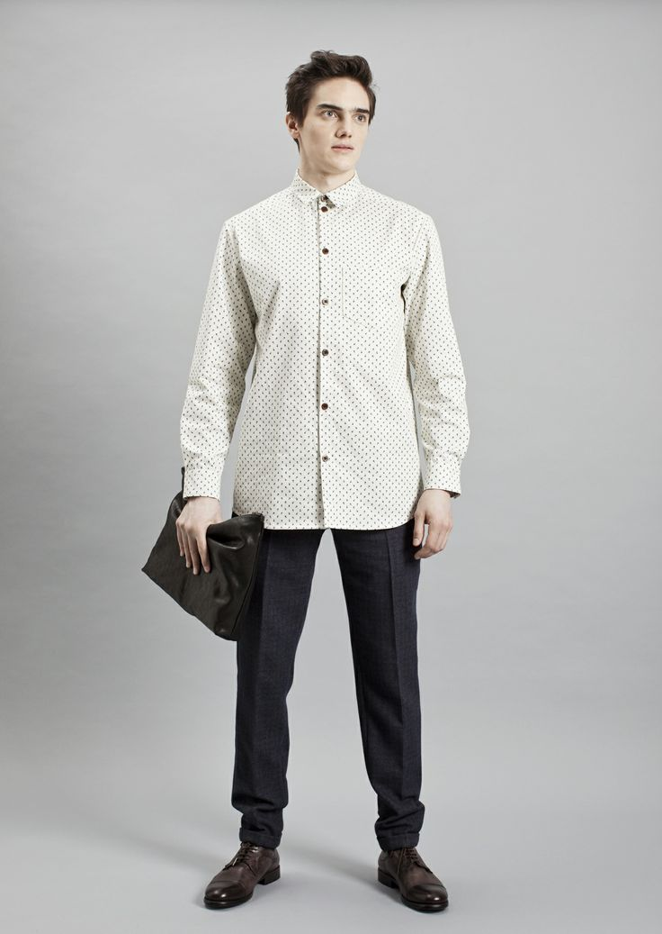 Tela Shirt, Presley Trousers and Big Vene Purse | Samuji Men Fall Winter 2014 Collection