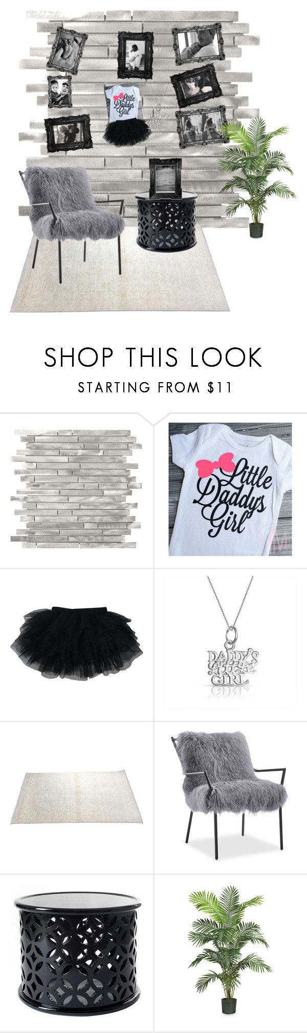 """""""Daddy's little girl"""" by ccm-couture ❤ liked on Polyvore featuring Victoria Beckham, Bling Jewelry, Linda Horn and Nearly Natural"""
