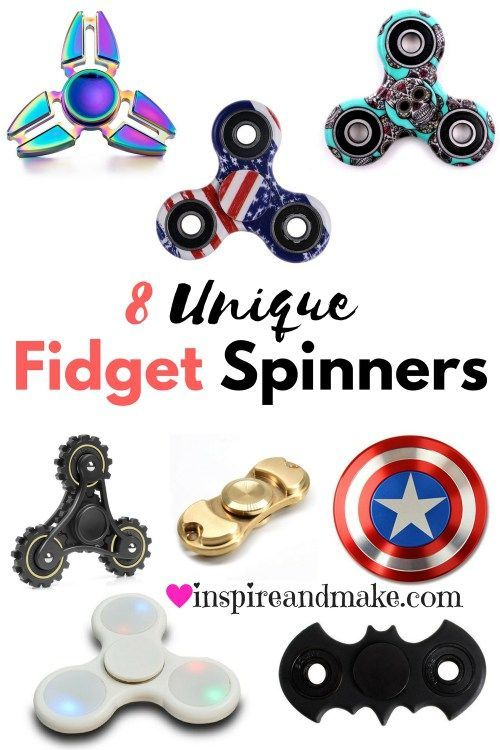 8 Unique Fidget Spinners that you don't want to miss! These Fidget Spinners are unique, fun, and help to relieve stress. You don't want to miss these unique fidget spinners.