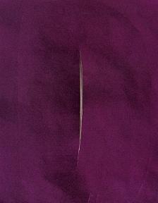 Lucio Fontana, Cut for Dress 1956-57.  http://www.artexperiencenyc.com/social_login