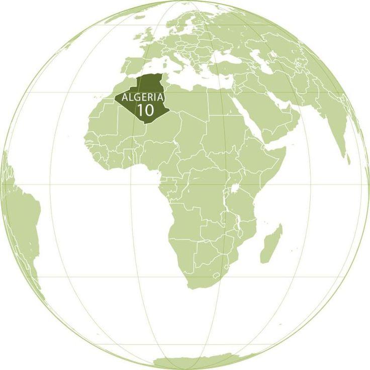 Algeria World Map by Lu0027AmricainWikimedia 219