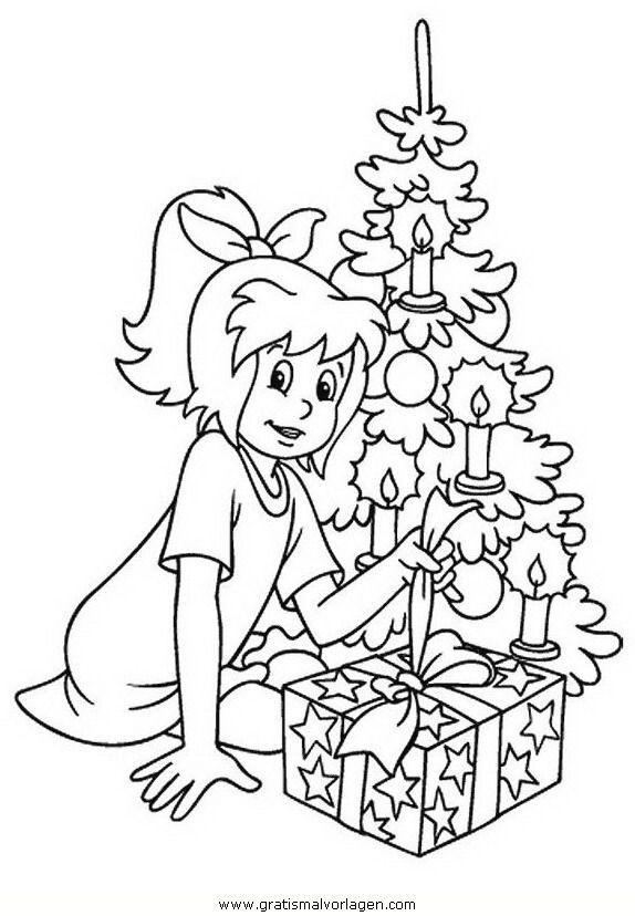 ausmalbilder conni weihnachten  ein bild zeichnen