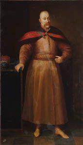 Януш Радзивилл (1612-1655). Подкоморий литовский (1633), гетман польный литовский (1646), староста жмудский (1647), воевода виленский (1653), великий гетман литовский (1654). Успешно воевал с казаками Хмельницкого, взял Киев (1651). Кальвинист, поддерживал также православных. Худ. Даниель Шульц (1615-1683) Около 1652 г. Х.м.210х122