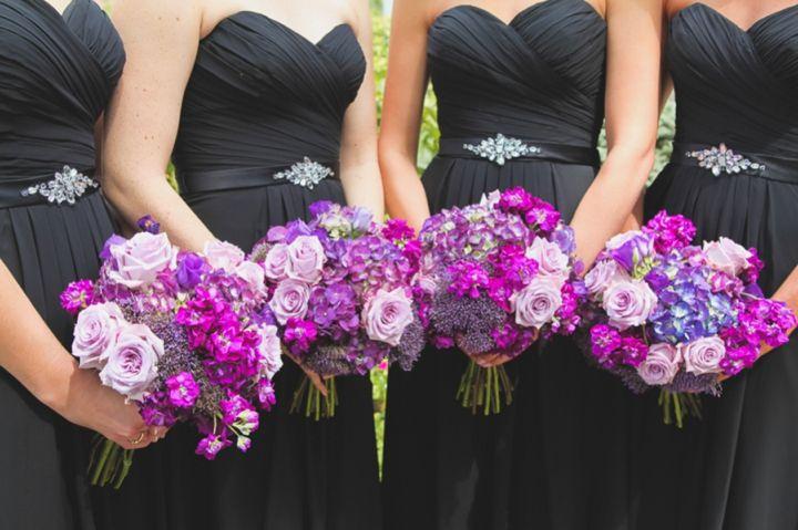 An elegant purple and ivory barn wedding purple the for Purple and ivory wedding dresses