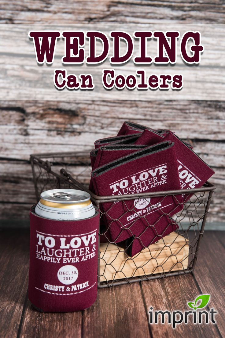 Design & Customize your own Wedding Can Coolers with Imprint.com!