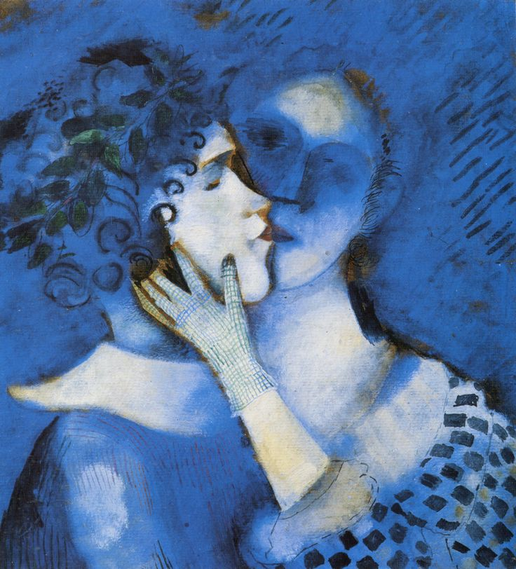 lovers in blue.. marc chagall