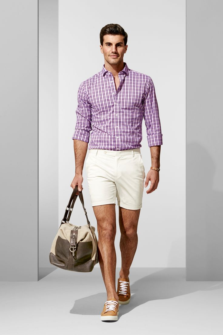 The Buoy Check Shirt and Light Grey Shorts. Shop the look at http://www.calibre.com.au/lookbook/look-373