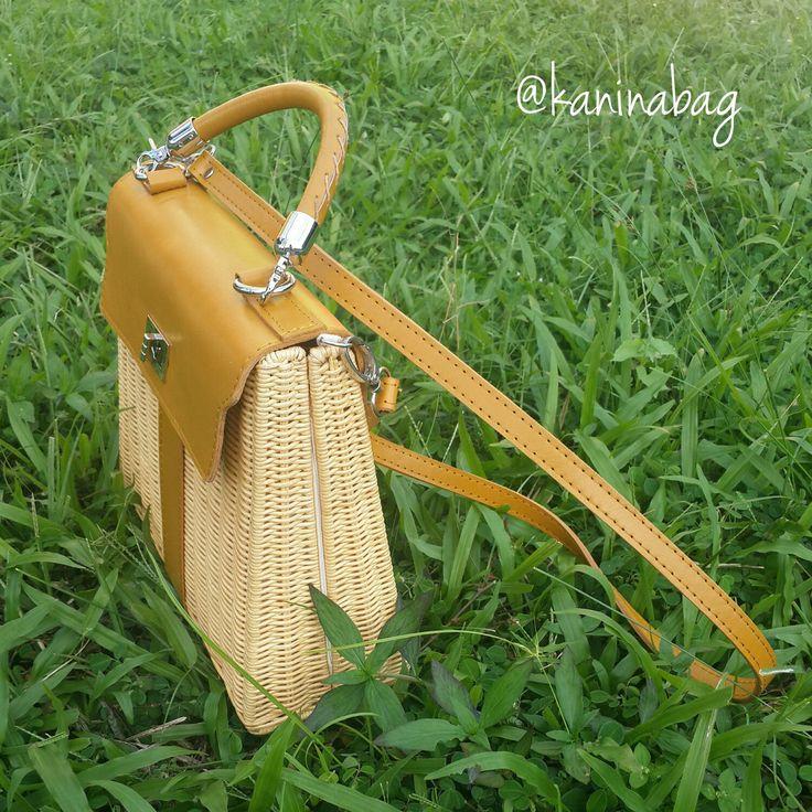 Handwoven wicker purse, handmade rattan bag, hermes wicker bag