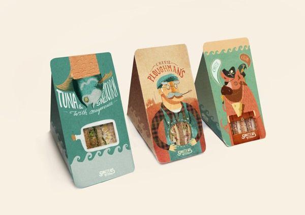 Packaging- Ginsters Reinterpretation by Charlie Davis, via Behance