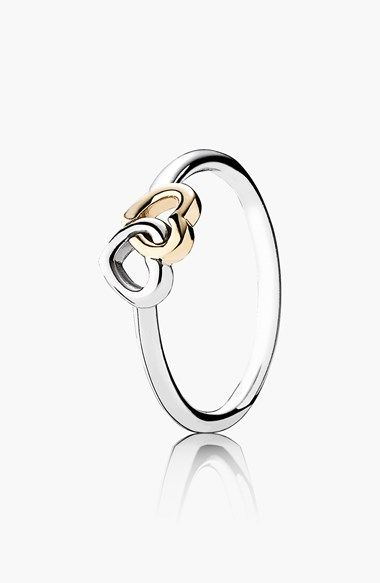 Free shipping and returns on PANDORA 'Heart to Heart' Ring at Nordstrom.com. Two interlocking hearts detail a lovely two-tone ring, representing the beautiful bond cultivated by love.