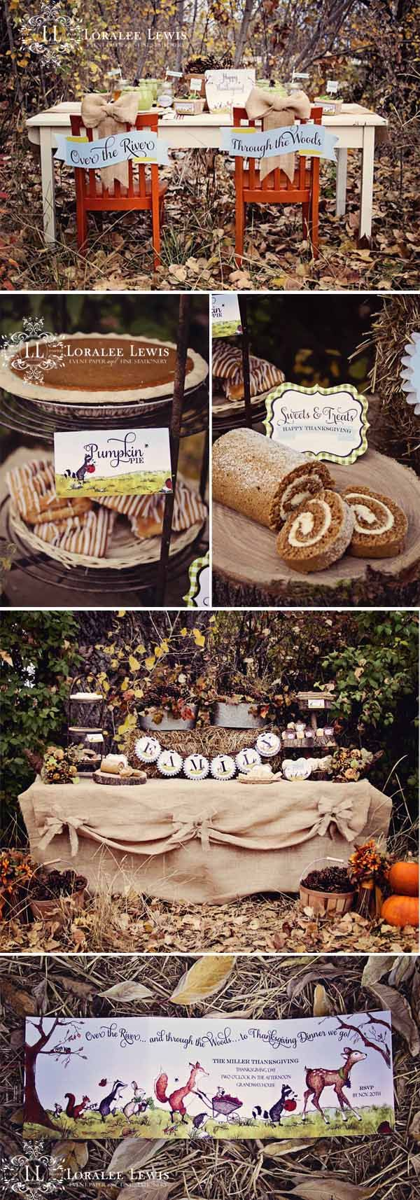 I love these Thanksgiving ideas! Planning on using some of these next Fall. Loralee Lewis Through the Woods Thanksgiving Collection 1a