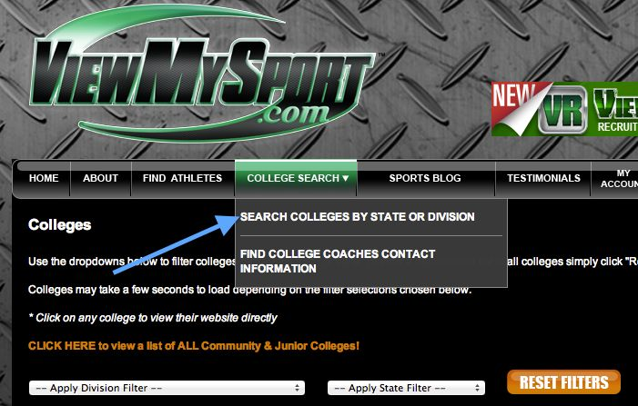 Pin by ViewMySport - College Sports Recruiting Management System on - new sample letter from high school athlete to college coach