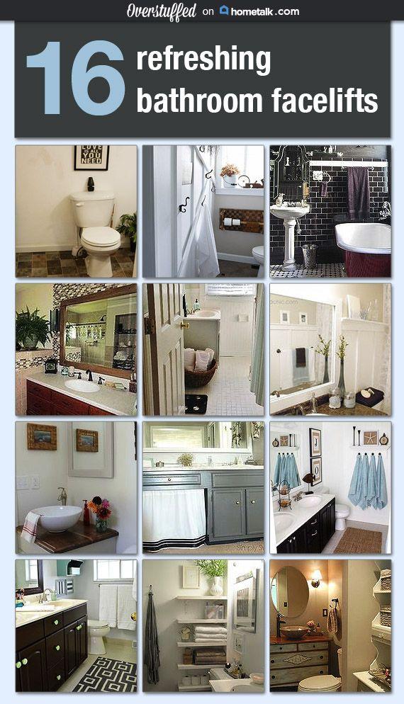 16 Refreshing Bathroom Facelifts #overstuffedlife