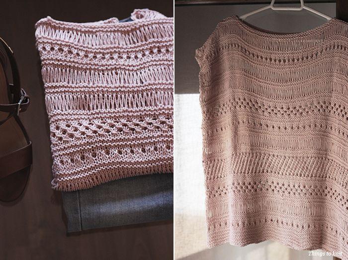 El Reto Things to Knit: Top tejido con Katia Cotton 100%