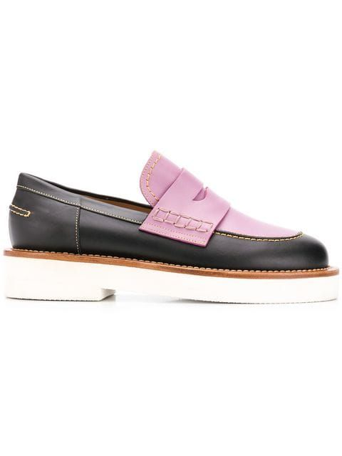 198ed691ccf Marni contrast panel loafers  690 - Buy Online - Mobile Friendly