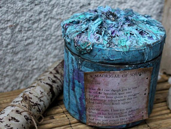 The Flowers of Evil, by Charles Baudelaire, Round box, A Madrigal of Sorrow, Poetry, Make Believer, Home decor, Home and Living, Gift box