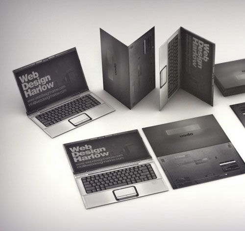 Outstanding business card for a digital designer. Hats off to them, have a look, it's great.