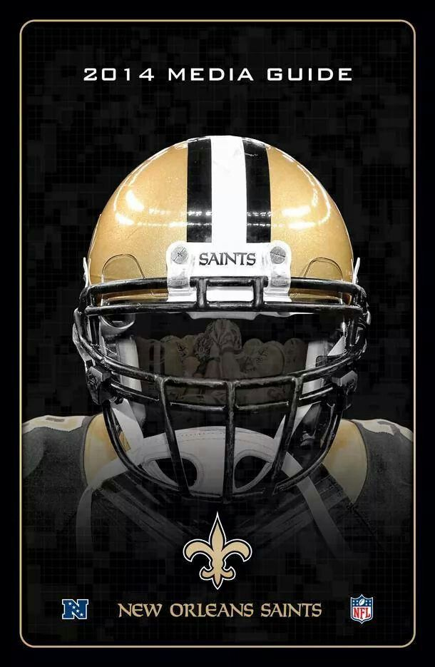 Cover for the 2014 New Orleans Saints Media Guide