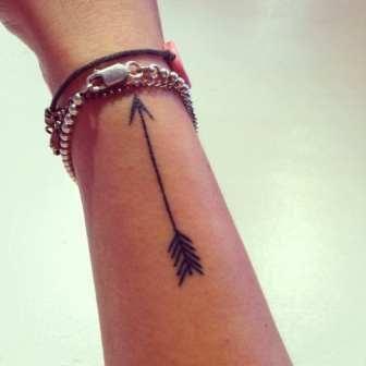 Attractive Black Arrow Tattoo On Side Of Wrist   Tattoobite.com