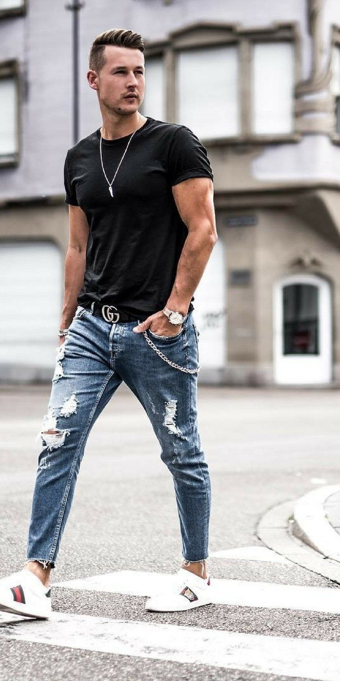 How To Wear Ripped Jeans Like A Street Style Star Blue