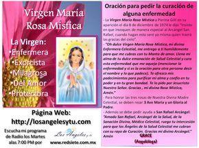 Oración ROSA MISTICA por la SALUD