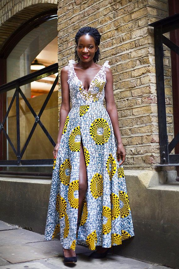 Ankara Maxi Dress African print dress wedding guest dress