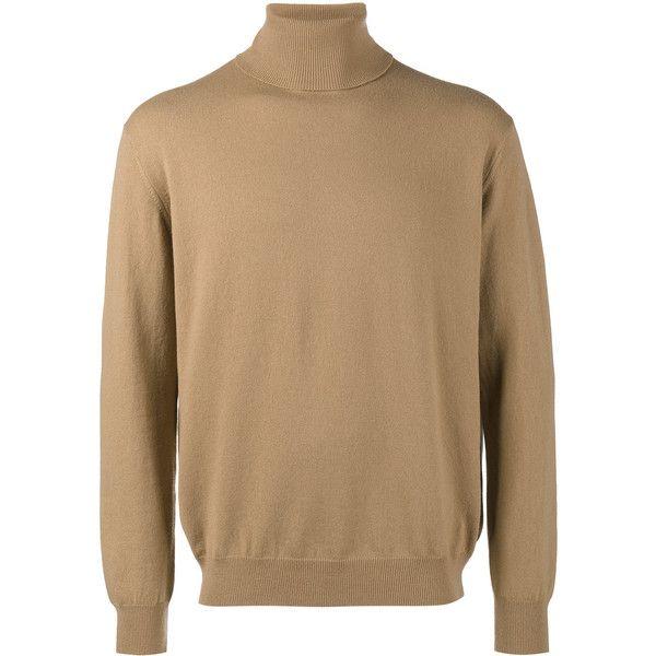 Balenciaga Logo Turtleneck Sweater 630 Liked On Polyvore