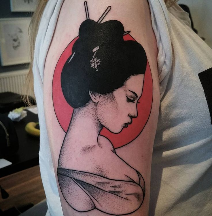 """148 Likes, 6 Comments - TattooLover (@tattooslover666) on Instagram: """"Neat Geisha by tattoo artist @matt_pettis_tattoo #Repost Thanks Harley! #tattoo #tattoos…"""""""