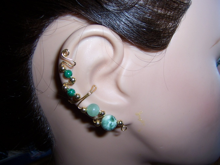 Unique handmade earcuffs for unpierced ears come in 28 colors and sell for $25.00 a pair including shipping and sales tax.