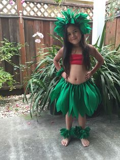 Lilo Costume Made with felt for under $10 Lilo and Stitch                                                                                                                                                                                 More