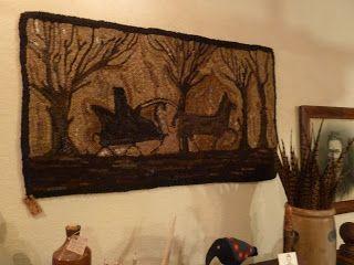 Cottonwood Lane Primitives; Rug by Deloris Bush