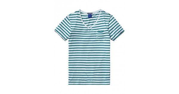 T-shirt με λαιμό V Scotch & Soda. Σύνθεση 100% cotton.  e-funky.gr