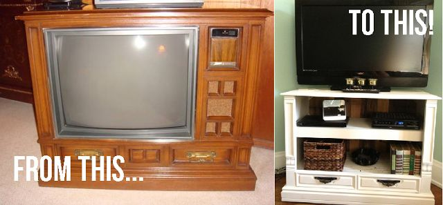 Turning An Old Box TV Into A TV Stand