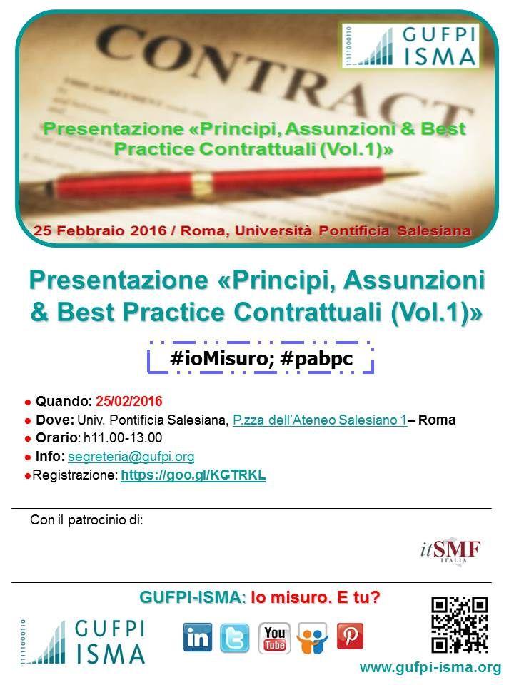 """Presentazione """"Principi, Assunzioni & Best Practice Contrattuali (Vol.1)"""""""