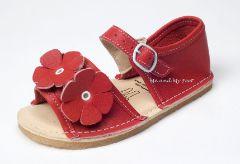 Bear Feet Cherry Red Flower Power Sandals